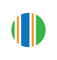 circle line business logo vector image