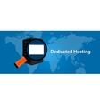 dedicated server web hosting services vector image