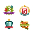 Happy birthday badges icons vector image