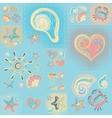 Navy seamless pattern Waves crab wheel vector image