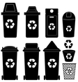 recycle bin silhouette vector image
