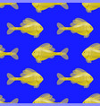 seamless yellow fish pattern vector image