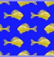seamless yellow fish pattern vector image