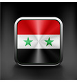 - Syria flag national travel icon country symbol vector image