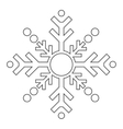 single snowflake icon vector image