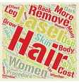 Laser Hair Removal The Good the Bad and the Ugly vector image