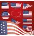 United States of America symbol set vector image vector image