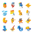 Icons for business and finance vector image vector image