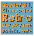 Retro type font vintage typography EPS10 vector image