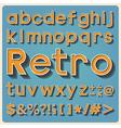 Retro type font vintage typography EPS10 vector image vector image