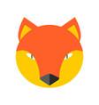 fox face cute she-fox head element for kids design vector image