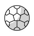 shadow soccer ball cartoon vector image