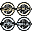 Autumn rubber stamps vector image