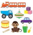 Set of toys 2 vector image vector image