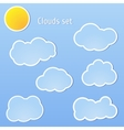 Clouds set and sun vector image vector image