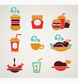 fast food collection vector image vector image