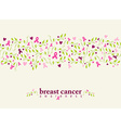 Breast cancer seamless pattern ribbon heart nature vector image