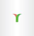 green red letter y logotype logo design vector image