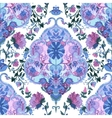 Watercolor paisley seamless background vector image