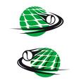 Tennis sports elements vector image vector image
