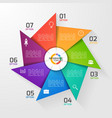windmill style infographic template 7 options vector image