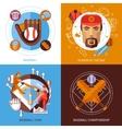 Baseball Concept Icons Set vector image