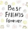 Best friends forever vector image