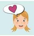 Child chat student school vector image