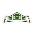 Country houses with horizon line vector image