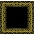 Decorative frame border pattern vector image