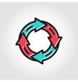 line flat arrow circle icon vector image