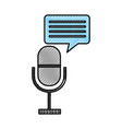 microphone communication with speech bubble vector image