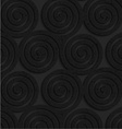 Textured black plastic three spirals vector image