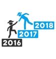 Annual Gentleman Help Flat Icon vector image