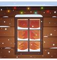 Snow Window vector image
