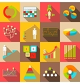 Infographic symbols parts icons set flat style vector image