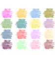 watercolor background set vector image