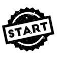 start rubber stamp vector image