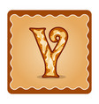 letter y candies vector image