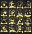 15 Premium Logo Cartoon Hobbies vector image