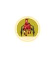 Horse and Jockey Harness Racing Retro vector image