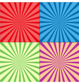 Retro Rays Background Set vector image