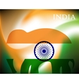 Abstract image of Indian flag holiday people vector image