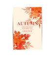 autumn background with orange leaves imitation of vector image