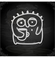 Hand Drawn Alien Drinking Coffee vector image