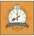evening prices in a restaurant vector image