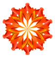 Abstract red and orange pattern vector image
