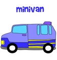 Collection of minivan transportation art vector image