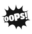 comic boom oops icon simple black style vector image