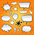 comic speech bubbles and splashes set vector image